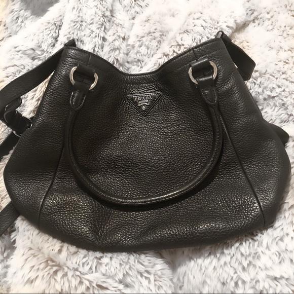 03772080dfbe LAST CHANCE SALE🔥PRADA Daino Black Leather Bag. M_5b16023bc2e9fe13724e5a3d